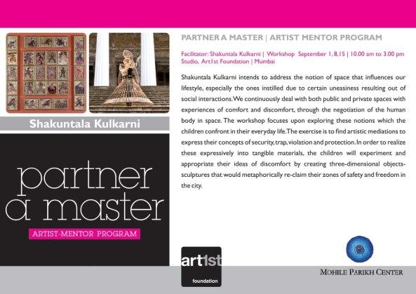 Partner a Master 2013-14|Shakuntala Kulkarni|September 1, 8, 15