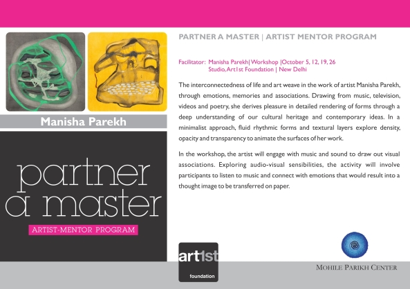 Partner a Master 2013-14|Manisha Parekh|October 5,12, 19, 26