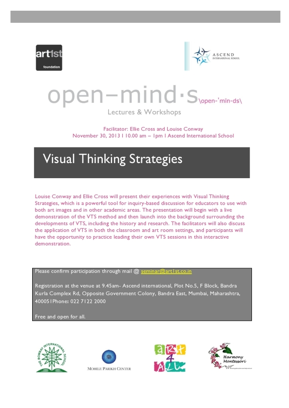 Open Minds Seminar: Visual Thinking Strategies