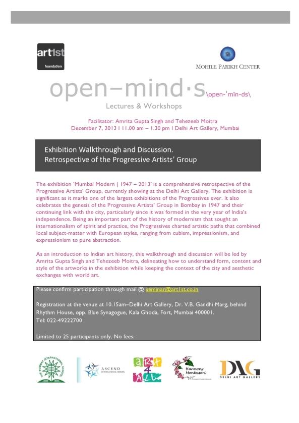 Open Minds, MUMBAI |Exhibition walkthrough and discussion @ Delhi Art Gallery