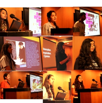 Students speaking about their experiences
