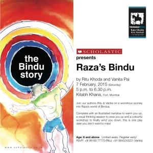 Raza's Bindu at Kitab Khana