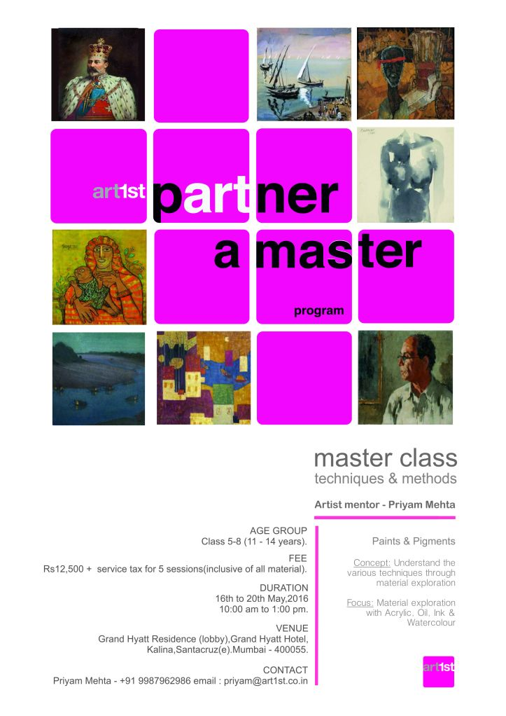 master class poster - painting