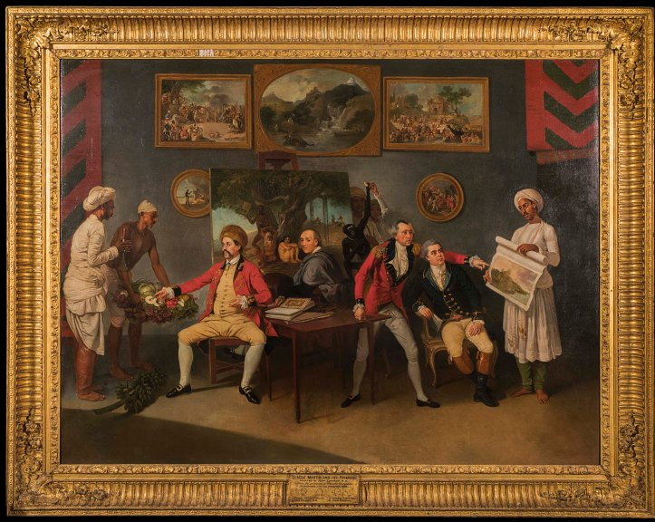 Johann Zoffany with Colonel Polier, Claude Martin and John Wombwell.jpg